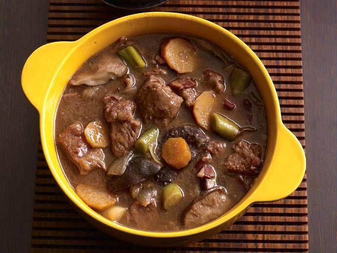 "**[Beef, shiitake and red wine stew](https://www.womensweeklyfood.com.au/recipes/beef-shiitake-and-red-wine-stew-10920|target=""_blank"")**"