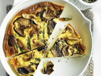 wild mushroom and green onion frittata