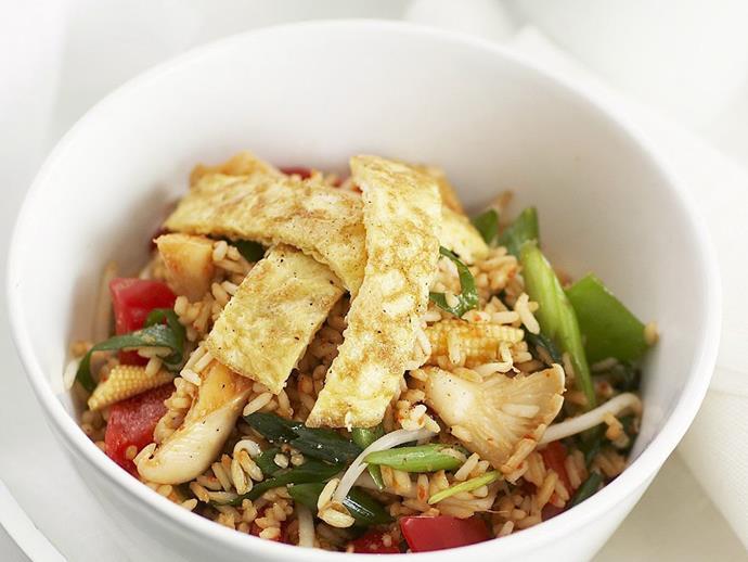 "[**Vegetarian nasi goreng**](https://www.womensweeklyfood.com.au/recipes/vegetarian-nasi-goreng-10998|target=""_blank"")  A vegetarian version of the classic Malaysian dish nasi goreng."