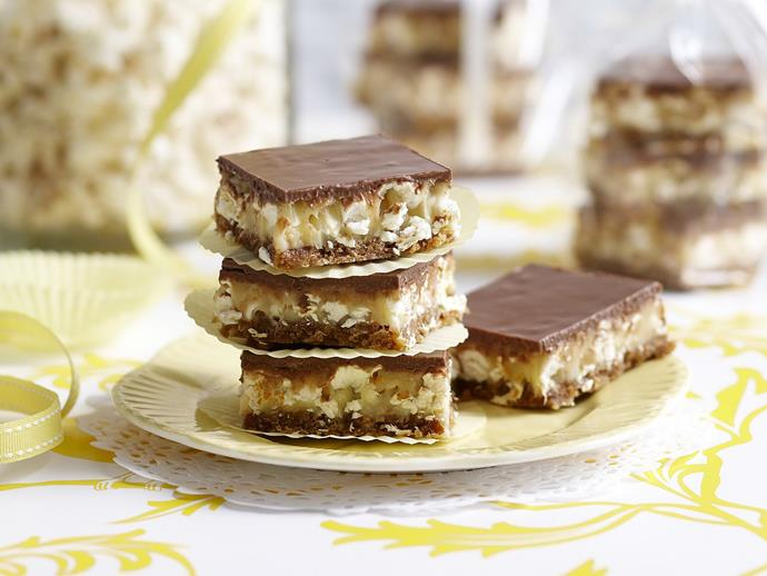 "**[Popcorn butterscotch squares](https://www.womensweeklyfood.com.au/recipes/popcorn-butterscotch-squares-4605|target=""_blank"")**"