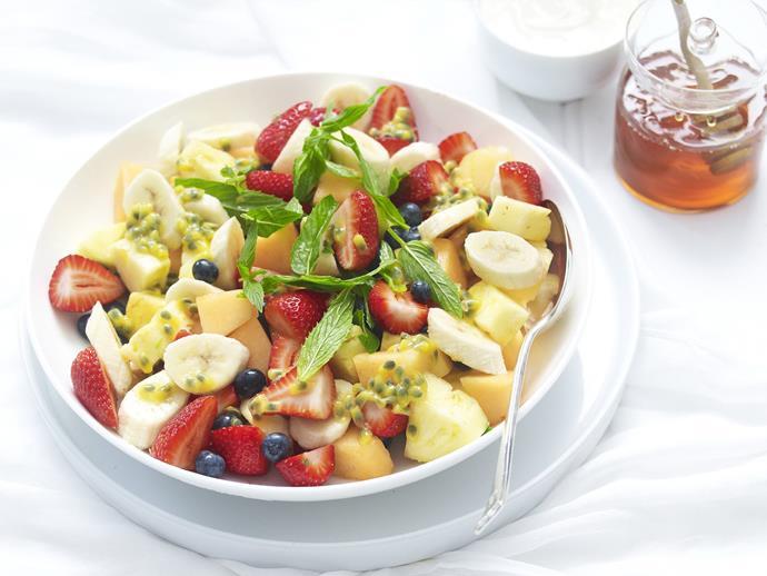 "[Fruit salad with honey yoghurt](https://www.womensweeklyfood.com.au/recipes/fruit-salad-with-honey-yoghurt-11034|target=""_blank"")"