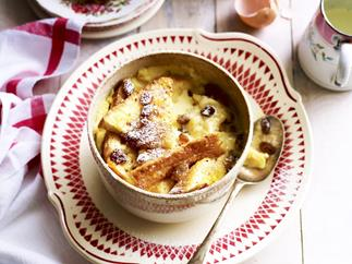 fig bread and butter pudding