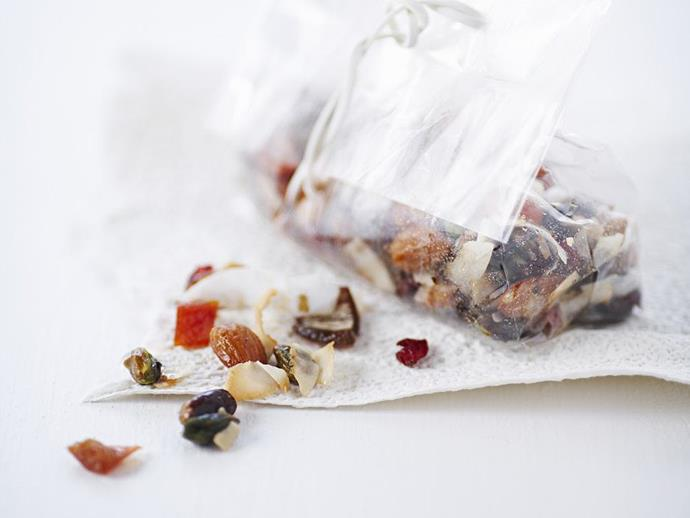 """**[Dried fruit and coconut trail mix](https://www.womensweeklyfood.com.au/recipes/dried-fruit-and-coconut-trail-mix-11055