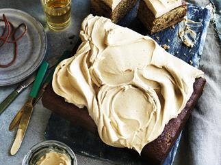 Ginger beer date cake WITH CREAM CHEESE FROSTING