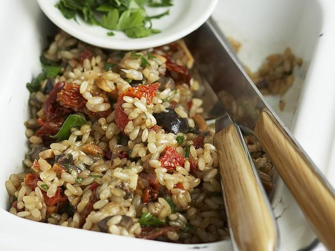 "**[Italian brown rice salad](https://www.womensweeklyfood.com.au/recipes/italian-brown-rice-salad-11059|target=""_blank"")**"