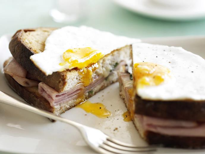 "More than just a ham, egg and cheese toastie, the classic [croque madame](https://www.womensweeklyfood.com.au/recipes/croque-madame-15299|target=""_blank"") is perfect dish for brunch or supper, with a little bit of France in every bite."