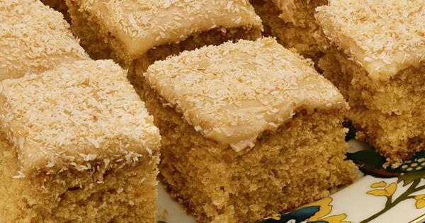 Honey Coconut Cake With Caramel Icing Australian Women S