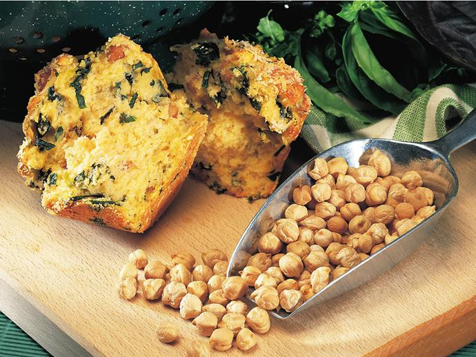 """**[Chickpea and spinach muffins](https://www.womensweeklyfood.com.au/recipes/chickpea-and-spinach-muffins-11118