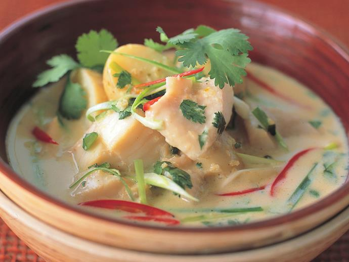 "**[Fish and potato yellow curry](https://www.womensweeklyfood.com.au/recipes/fish-and-potato-yellow-curry-15045|target=""_blank"")**  Yellow curry is a lighter, less spicy style of curry that gets its colour from the ground turmeric that forms part of the paste. This Thai-style fish and potato version is creamy and mild."