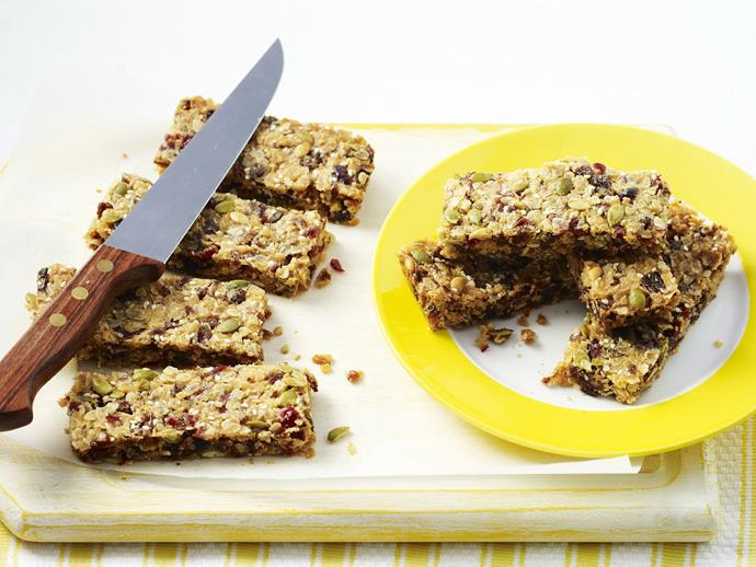 """**[Cranberry and honey muesli bars](https://www.womensweeklyfood.com.au/recipes/cranberry-and-honey-muesli-bars-11176