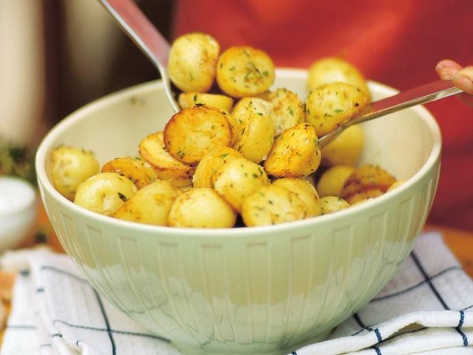 herbed baby potatoes