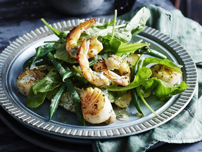 "Warm, fragrant and delicious, this [potato, prawn and scallop salad](https://www.womensweeklyfood.com.au/recipes/warm-potato-prawn-and-scallop-salad-10636|target=""_blank"") makes a great starter or lunch."