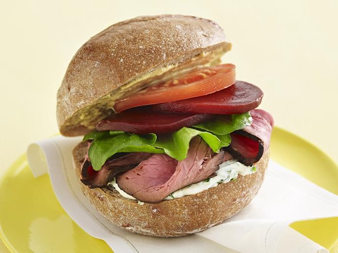 "**[Roast beef and herbed cream cheese rolls](https://www.womensweeklyfood.com.au/recipes/roast-beef-and-herbed-cream-cheese-rolls-4475|target=""_blank"")**"