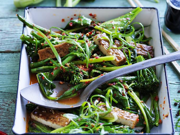 """**[Sichuan gai lan](https://www.womensweeklyfood.com.au/recipes/sichuan-gai-lan-4484