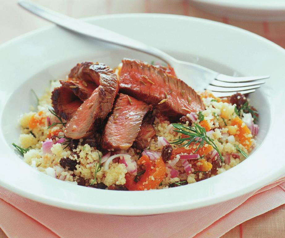 Check out Moroccan Beef with Honey-Spice Couscous + Wine Pairing at https://homemaderecipes.com/moroccan-beef-with-honey-spice-couscous-wine-pairing/