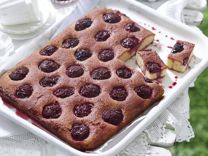 """The deep ruby, red colour of plums is reflected in it's complex, tart-sweet flavour. This delectable [plum and almond slice](https://www.womensweeklyfood.com.au/recipes/plum-and-almond-slice-15054
