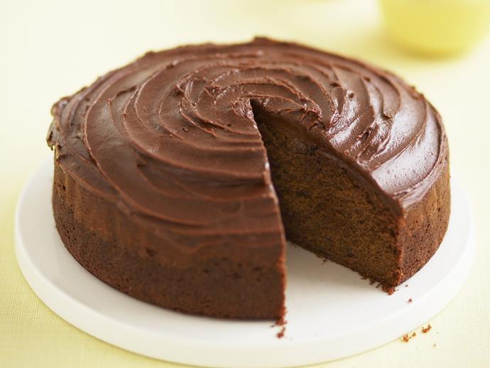 "You can't go past a [moist chocolate cake](https://www.womensweeklyfood.com.au/recipes/quick-mix-chocolate-cake-10730|target=""_blank"") topped with chocolate fudge icing."