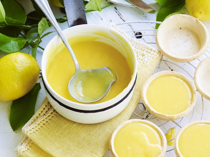 "**[Our unbeatable lemon curd recipe](https://www.womensweeklyfood.com.au/recipes/lemon-curd-10731|target=""_blank"")**  Learn how to make lemon curd and you'll unlock a delicious topping for toast, scones, pikelets and pancakes as well as a dreamy filling for tarts and sponge cake."