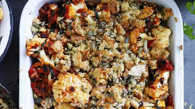 Cauliflower and tomato gratin
