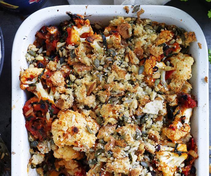 cauliflower &tomato gratin
