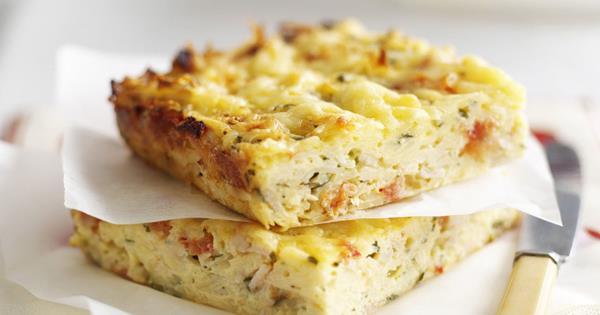 Baked Potato Ham And Cheese Frittata Australian Women S Weekly Food