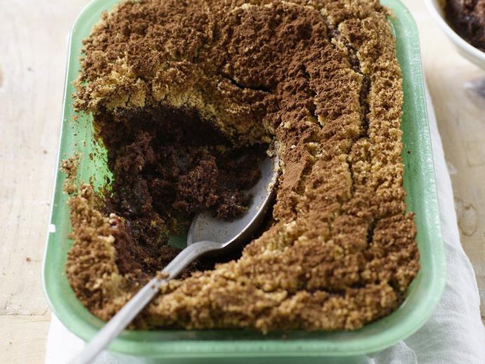 "**[Choc-mint self-saucing pudding](https://www.womensweeklyfood.com.au/recipes/choc-mint-self-saucing-pudding-10828|target=""_blank"")**"