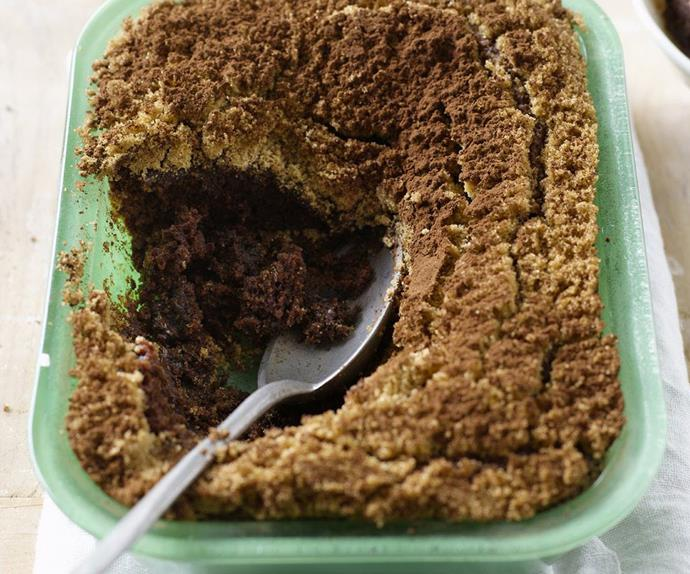 choc-mint self-saucing pudding