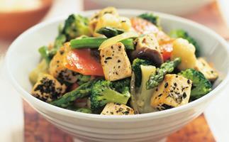 thyme and tofu stir-fry