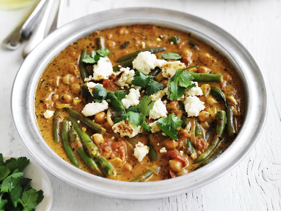 "Chickpeas do a fabulous job of bulking out this delicious [chickpea, paneer and vegetable curry.](https://www.womensweeklyfood.com.au/recipes/chickpea-paneer-and-vegetable-curry-10886|target=""_blank"")"
