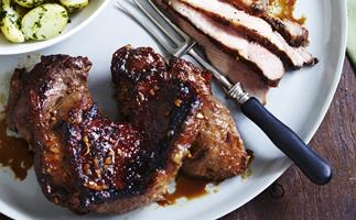 barbecued soy and ginger lamb
