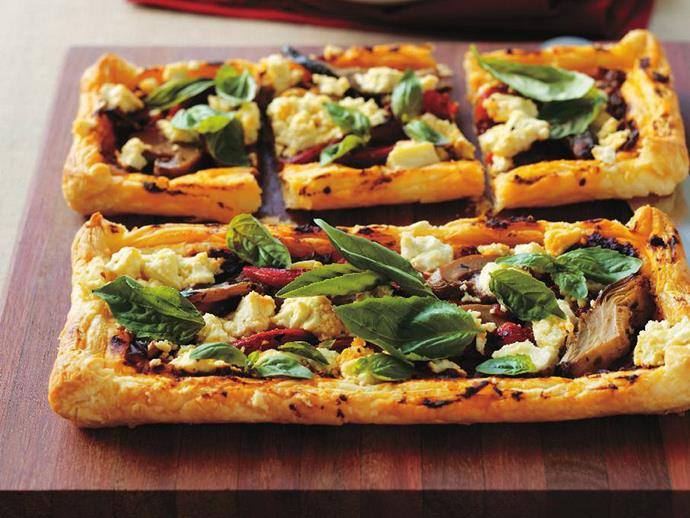 "**[Vegetable pesto tartlets](https://www.womensweeklyfood.com.au/recipes/vegetable-pesto-tartlets-10360|target=""_blank"")**  Try this gourmet yet simple Mediterranean style pizza to add a little excitement to the dinner table."