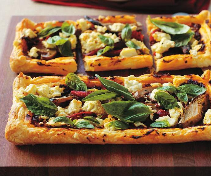 vegetable pesto tartlets