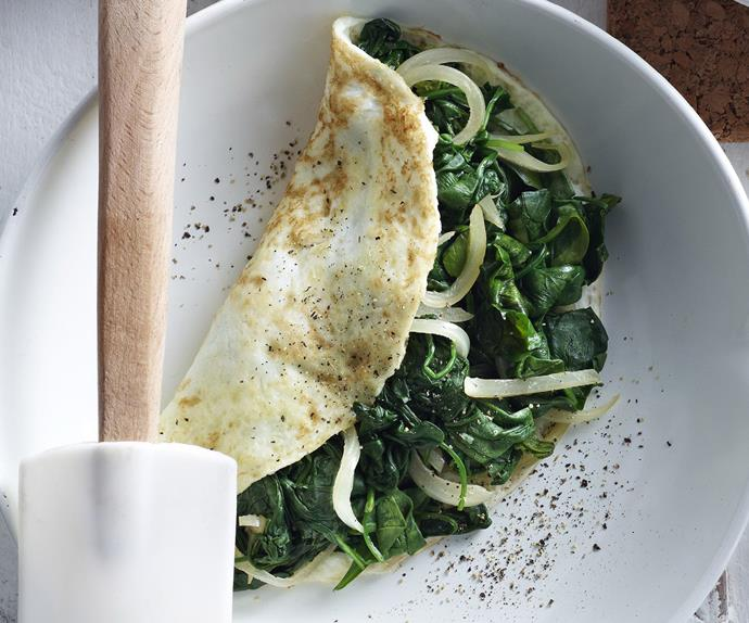 spinach omelettes
