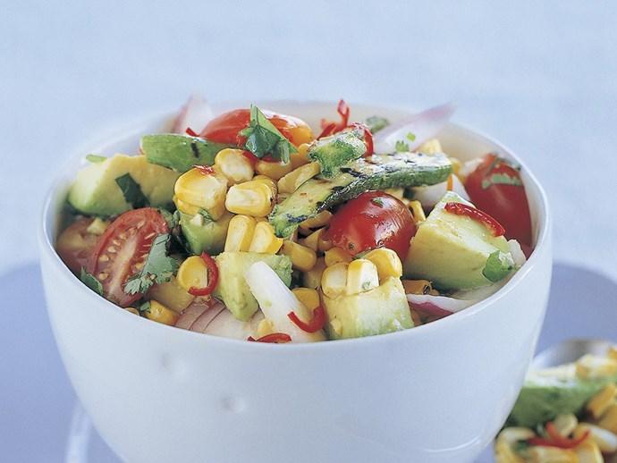 fresh corn and zucchini chunky salsa