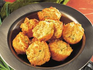 roasted capsicum and fetta muffins