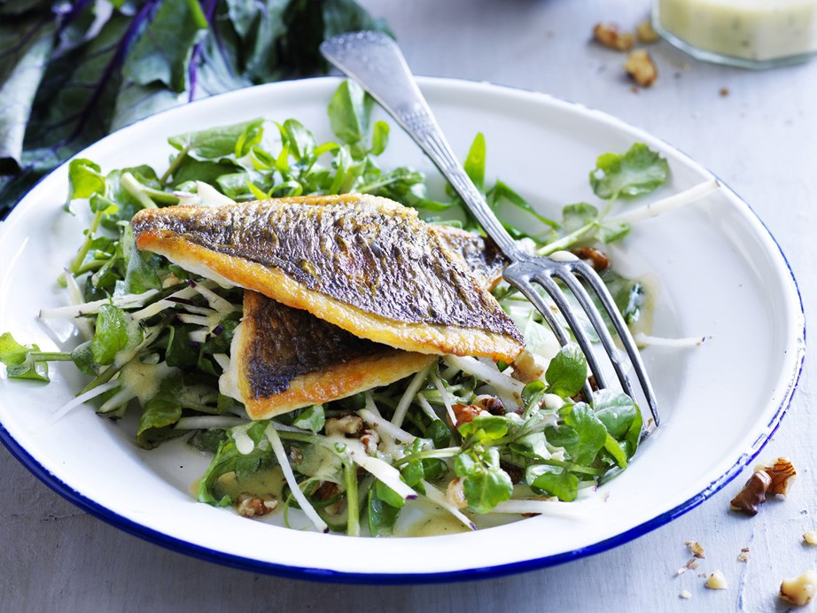 "The buttermilk dressing in this recipe for [bream with kohlrabi, watercress and walnut salad](https://www.womensweeklyfood.com.au/recipes/bream-with-kohlrabi-watercress-and-walnut-salad-with-buttermilk-dressing-10445|target=""_blank"") is seasoned with dill and mustard for an elegant and mouthwatering meal."
