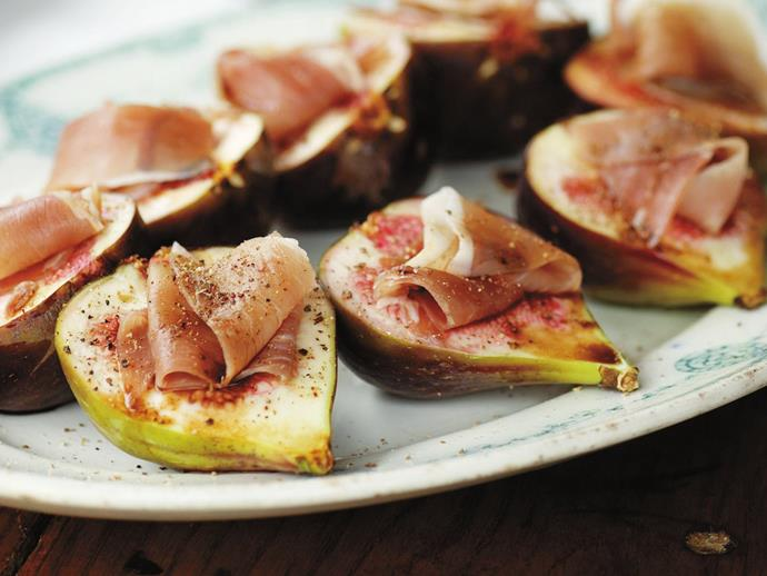 These simple [figs with prosciutto](http://www.foodtolove.com.au/recipes/figs-with-prosciutto-23511) are quick, easy and delicious.