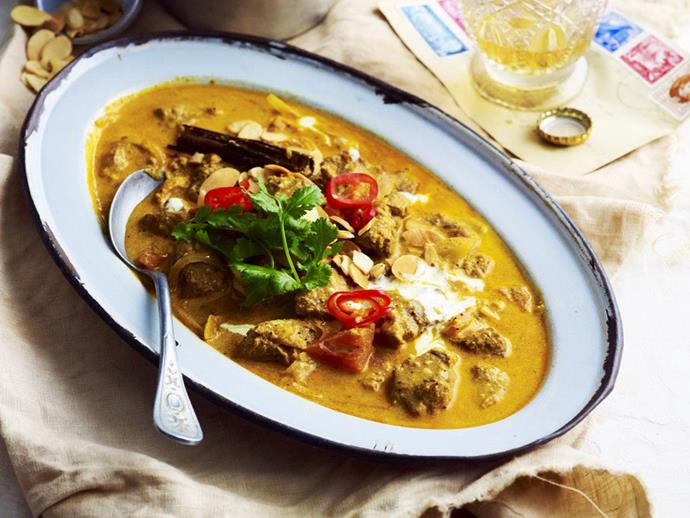 "**[Lamb korma](https://www.womensweeklyfood.com.au/recipes/lamb-korma-10449|target=""_blank"")**  Rich and delicious Indian korma with slow-cooked tender lamb."