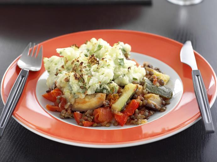 """**[Lentil cottage pie](https://www.womensweeklyfood.com.au/recipes/lentil-cottage-pie-15079