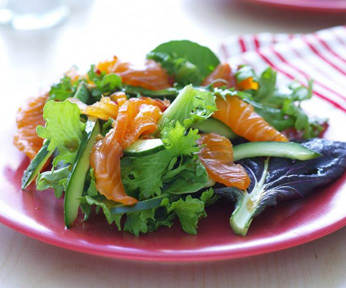 asian-style cured salmon salad