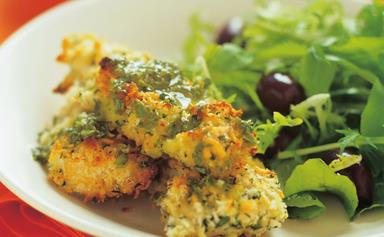 Oven-baked parmesan chicken