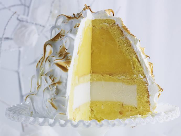"""**[Tropical bombe alaska](https://www.womensweeklyfood.com.au/recipes/tropical-bombe-alaska-10542 target=""""_blank"""")**  The mix of textures, flavours and temperatures combine in the classic king of desserts, the bombe alaska, to create a sensationally sweet dish."""