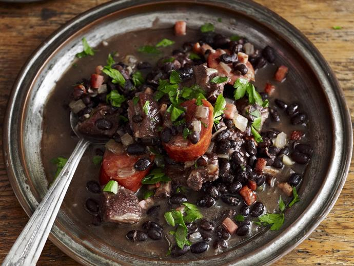 "**[Brazilian feijoada](https://www.womensweeklyfood.com.au/recipes/brazilian-feijoada-10552|target=""_blank"")**"
