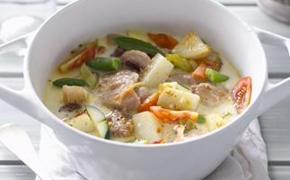 creamy chicken and vegetable casserole