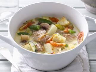 creamy chicken and vegetable casserole