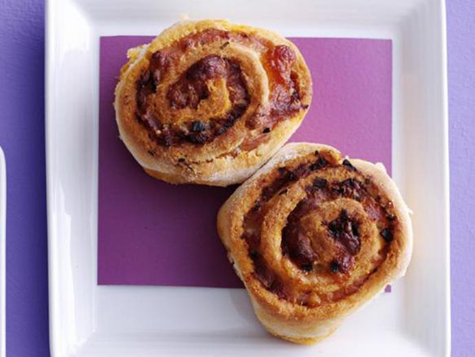 """**[Sun-dried tomato and bacon scrolls](https://www.womensweeklyfood.com.au/recipes/sun-dried-tomato-and-bacon-scrolls-4088