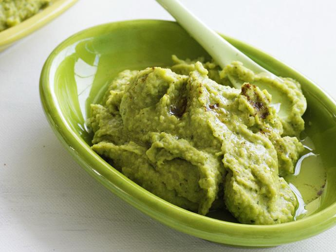 """**[Broad bean dip](http://www.womensweeklyfood.com.au/recipes/broad-bean-dip-10569