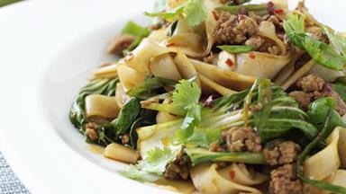 Japanese stir-fried pork and rice noodles
