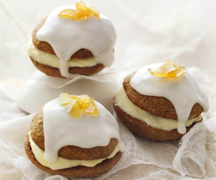 lemon ginger-spice whoopie pies
