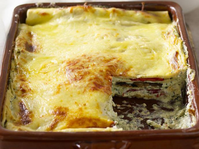 "**[Three-cheese vegetarian lasagne](https://www.womensweeklyfood.com.au/recipes/three-cheese-vegetarian-lasagne-10207|target=""_blank"")**  Trying meatless Monday? This recipe is a great option for any vegetarian occasion and is a real crowd pleaser."